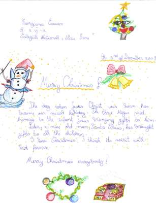 Letter to santa carolling in europe an online etwinning project santa claus letter to santa spiritdancerdesigns Image collections